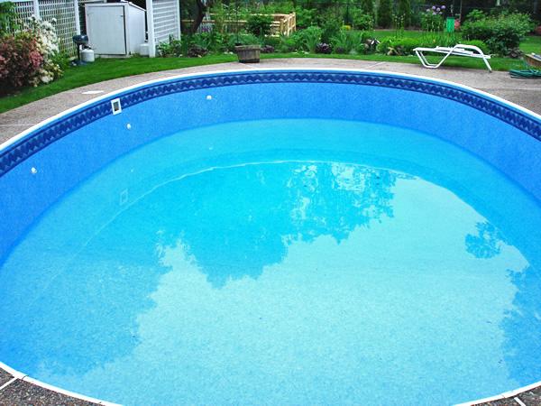 large round pool liner